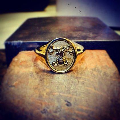 Signet Ring, Bespoke, ROSH