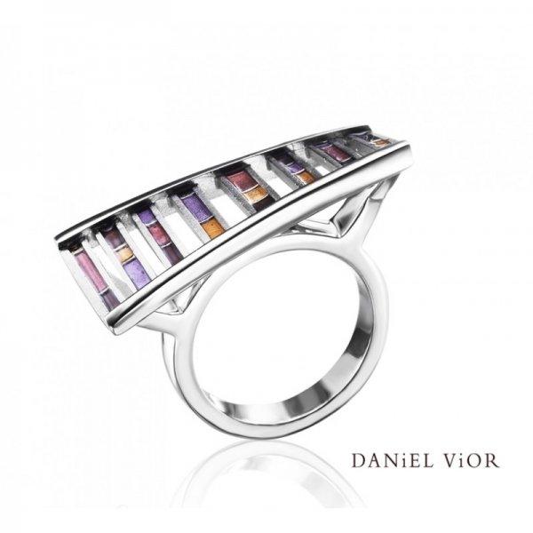 Daniel Vior, DNA Ring, Silver, Earth Enamel