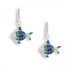 Nicole Barr, Angel Fish Earrings, Sapphire Set