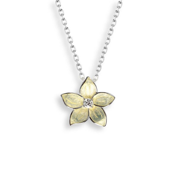 Nicole Barr, Stephanotis Pendant, Set With White Topaz