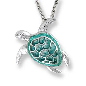 Nicole Barr, Turtle Pendant, Sapphire Set