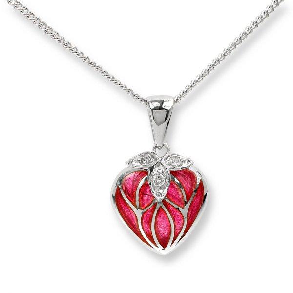 Nicole Barr, Heart Pendant, Diamond Set