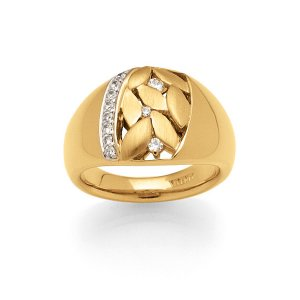 Viventy Yellow Gold Plated Ring