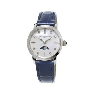Frederique Constant, Ladies Moonphase, Blue, Mother Of Pearl, Quartz