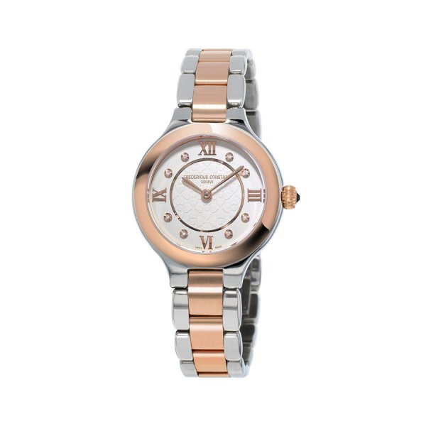 Frederique Constant, Ladies Delight, Steel And Rose Gold Plated, Diamond Set Dial