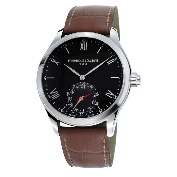 Frederique Constant, Connected Steel, Horological. Gents, Leather Strap.