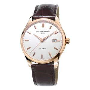 Frederique Constant, Index Rose Gold Plated Watch, Leather Strap.