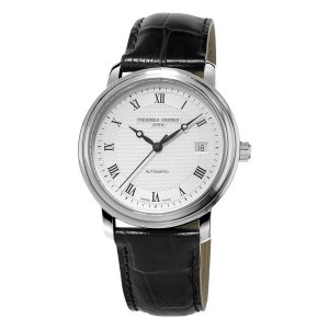 Frederique Constant, Classics Steel Watch, Automatic, Leather Strap.