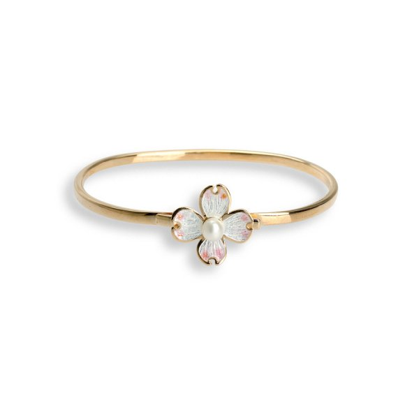 Nicole Barr, Dogwood Bangle, Rose Gold Plated, With Freshwater Pearl