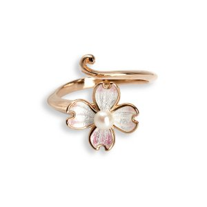 Nicole Barr, Dogwood Ring, Rose Gold Plated, With Akoya Pearl