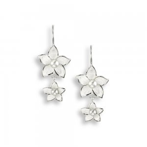 Nicole Barr, Stephanotis Drop Earrings Pearl Set
