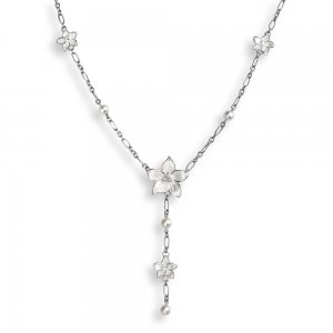 Nicole Barr, Stephanotis Necklace, With White Sapphire