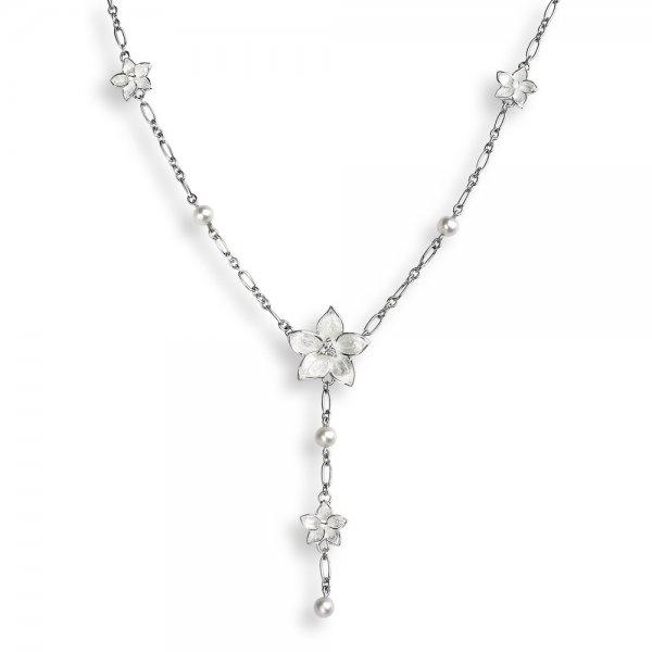 Nicole Barr, Stephanotis Necklace, With White Sapphire