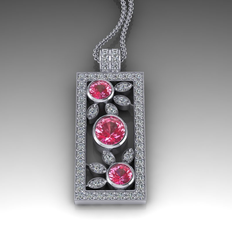 Bespoke, Pendant, Diamond, Ruby, ROSH Design