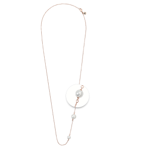 Nikki Lissoni Necklace With Pearl Rose Gold