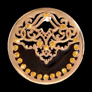 Nikki Lissoni Yellow Gold Medium Black Velvet Coin