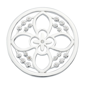 Nikki Lissoni Silver Medium Day Flower Coin