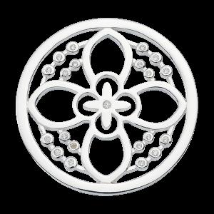 Nikki Lissoni Silver Medium Day Flower Coin