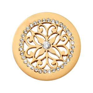Nikki Lissoni Yellow Gold Small Glamourous Ornament Coin