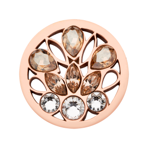 Nikki Lissoni Rose Gold Small Peacock's Tail Coin