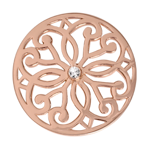 Nikki Lissoni Rose Gold Medium Baroque Fantasy Coin