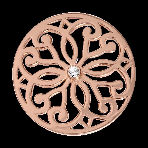 Nikki Lissoni Rose Gold Medium Baroque Fantasy Coin