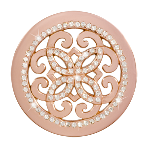 Nikki Lissoni Rose Gold Medium Baroque Freedom Coin