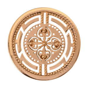 Nikki Lissoni Yellow Gold Medium Roman Maze Coin