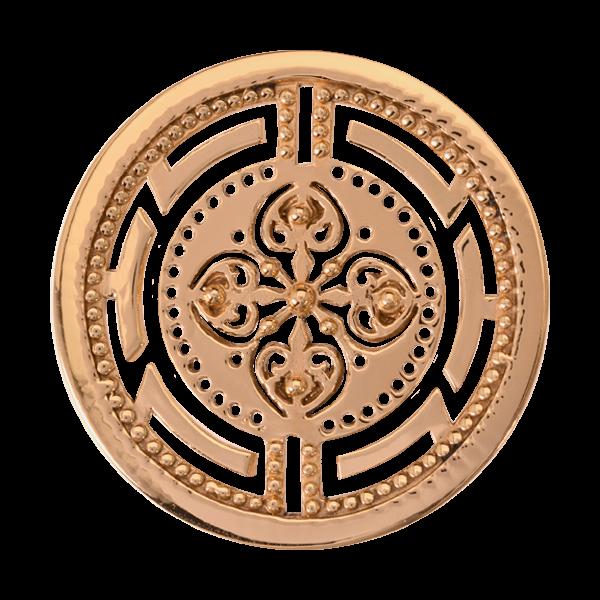Nikki Lissoni Yellow Gold Medium Roman Maze Coin