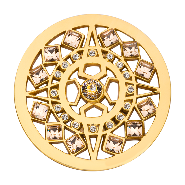 Nikki Lissoni Yellow Gold Medium Shooting Star Coin