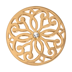 Nikki Lissoni Yellow Gold Medium Baroque Fantasy Coin