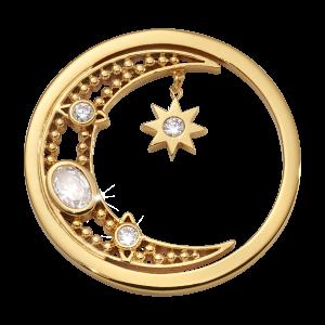 Nikki Lissoni Yellow Gold Medium Moon Goddess Coin