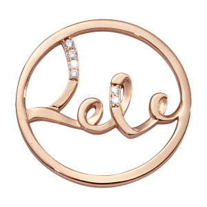 Nikki Lissoni Rose Gold Medium My Love Is Endless Coin