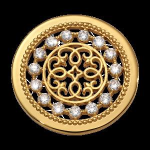 Nikki Lissoni Yellow Gold Medium Vintage Perfection Coin