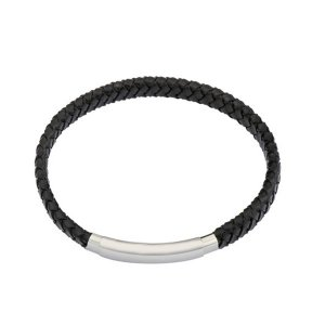 Gent's Leather Bracelet Black