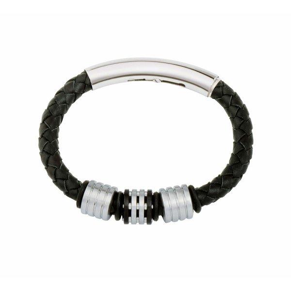 Gent's Leather Bracelet Black