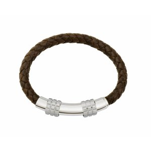Gent's Leather Bracelet Brown