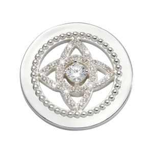 Nikki Lissoni Silver Small Eastern Lace Coin