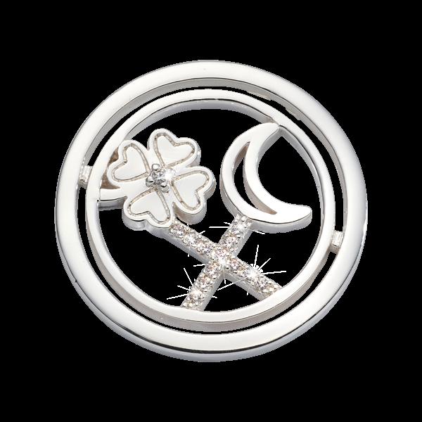 Nikki Lissoni Silver Small Lucky Treasure Coin