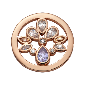 Nikki Lissoni Rose Gold Small Orchid In Bloom Coin