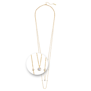 Nikki Lissoni Layered Necklace Yellow Gold