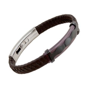 Gent's Leather Bracelet Brown