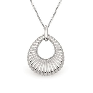 Viventy Sterling Silver Textured Pendant