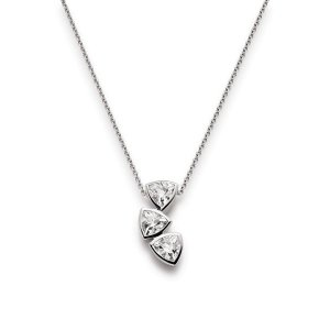Viventy Sterling Silver Drop Stone Set Pendant