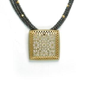 Lindenau Haematite Necklace Yellow Gold Plate
