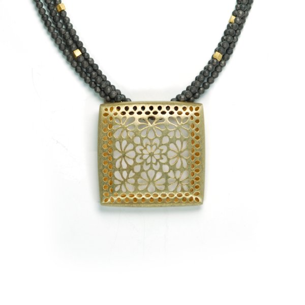 Lindenau Haematite Necklace Yellow Gold Plate
