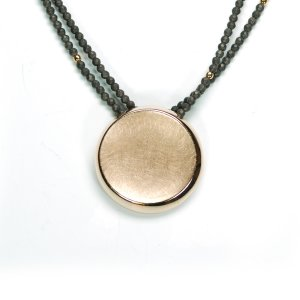 Lindenau Haematite Necklace Rose Gold Plated