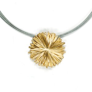 Lindenau Necklace Yellow Gold and Black Rhodium Plate