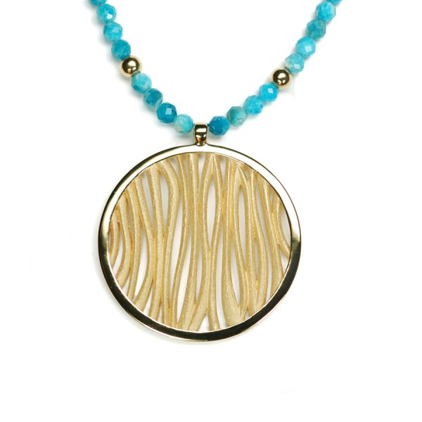 Lindenau Apatite Necklace Yellow Gold Plated