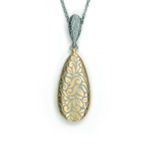 Lindenau Necklace Yellow Gold Black Rhodium Plated